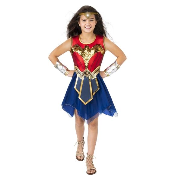 Wonder Woman Color Flip Sequin Halloween Costume